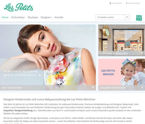 Onlineshop + Printdesign für Kindermode-Boutique